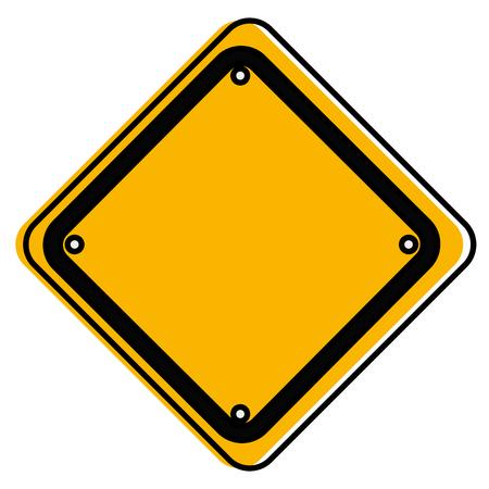 traffic signal diamond icon vector illustration design Ilustrace