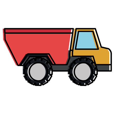 Truck dump isolated icon vector illustration design Illustration
