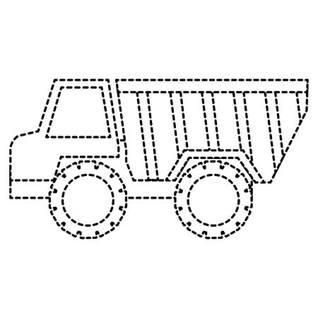 덤프 트럭 격리 아이콘 그림 디자인입니다.