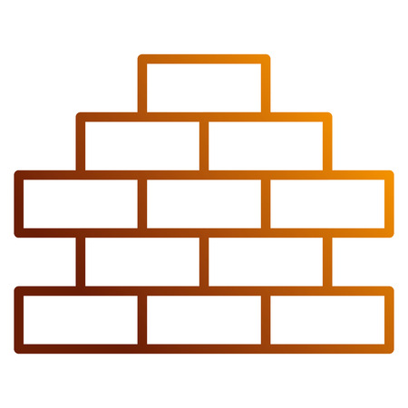 Bricks wall pile icon vector illustration design.