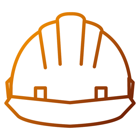 Helmet construction isolated icon vector illustration design. Illustration