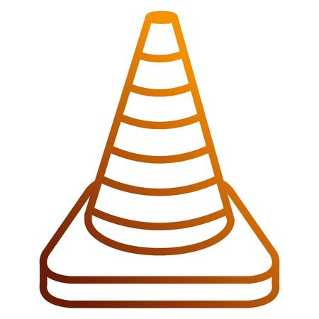Construction cone isolated icon vector illustration design.