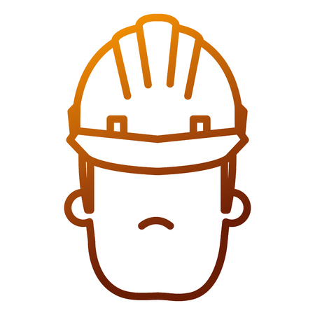 construction worker with helmet vector illustration design