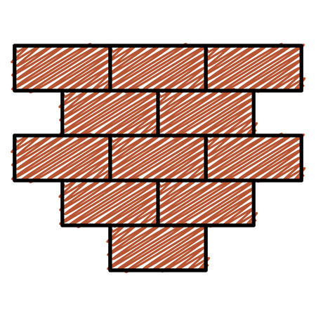 bricks wall pile icon vector illustration design Ilustração