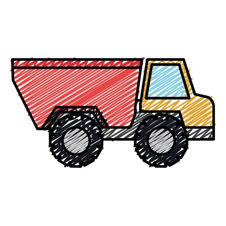 트럭 덤프 격리 된 아이콘 벡터 일러스트 레이 션 디자인