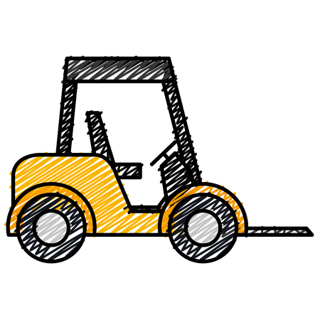 forklift vehicle isolated icon vector illustration design Illustration