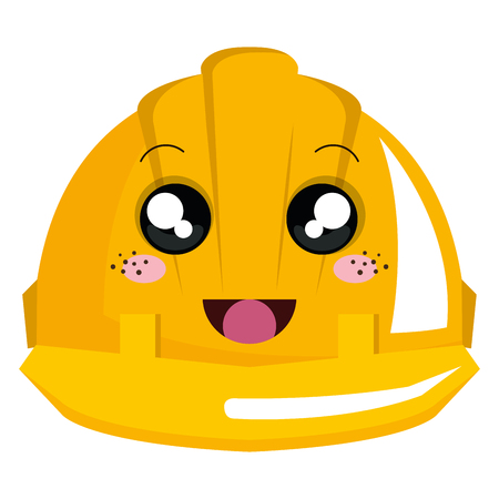 helmet construction character vector illustration design