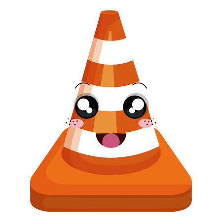 construction cone character vector illustration design Illustration