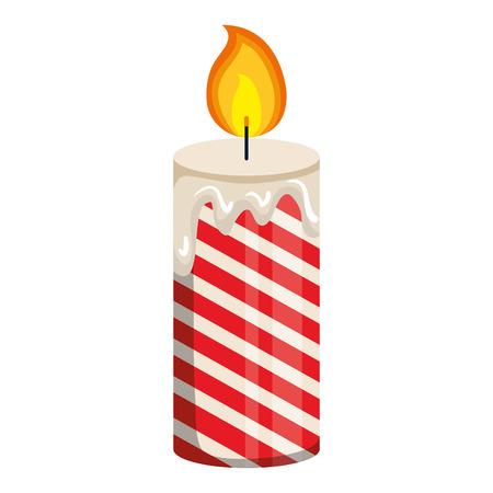 A christmas candles decorative icon vector illustration design