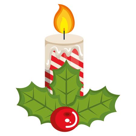 Diseño de ilustración de vector de icono decorativo de velas de Navidad Foto de archivo - 92441524