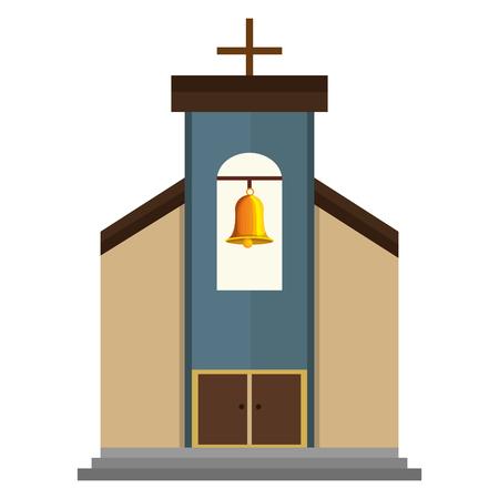 教会の建物孤立したアイコンベクトルイラストデザイン  イラスト・ベクター素材