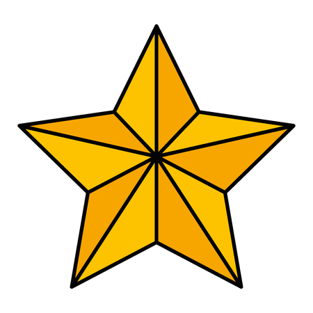 Christmas star decorative icon vector illustration design.