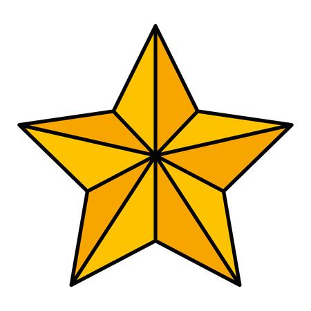 Weihnachtsstern dekorative Symbol Vektor-Illustration Design Standard-Bild - 92441738