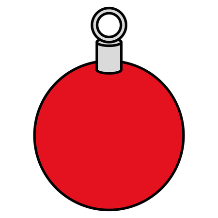 christmas ball hanging icon vector illustration design Stock Vector - 92441740
