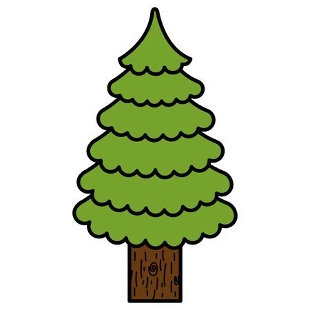クリスマスツリー孤立したアイコンベクトルイラストデザイン  イラスト・ベクター素材