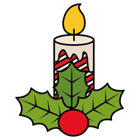 Diseño de ilustración de vector de icono decorativo de velas de Navidad Foto de archivo - 92499690