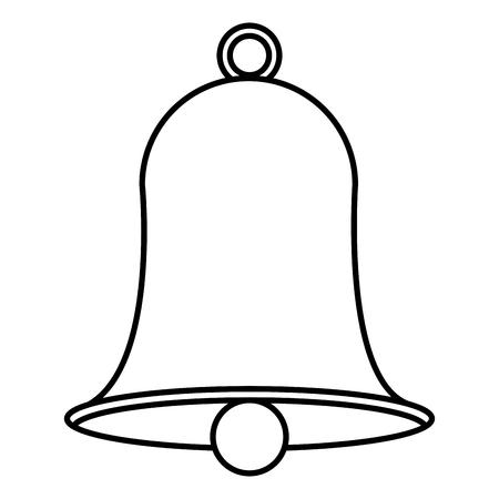 christmas bell decorative icon vector illustration design Illusztráció