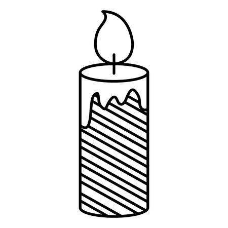 christmas candles decorative icon vector illustration design Foto de archivo - 92499616