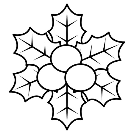 A christmas leafs decorative frame vector illustration design Stock Vector - 92443510