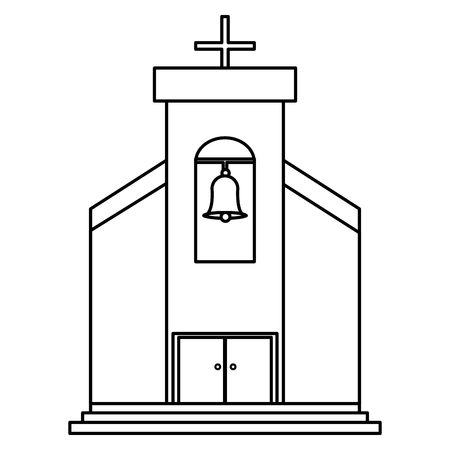 church building isolated icon vector illustration design