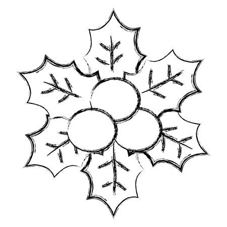 christmas leafs decorative frame vector illustration design Stock Vector - 92499561