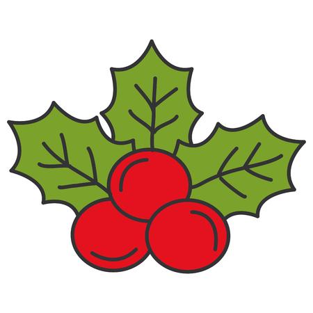 christmas leafs decorative frame vector illustration design Stock Vector - 92499394