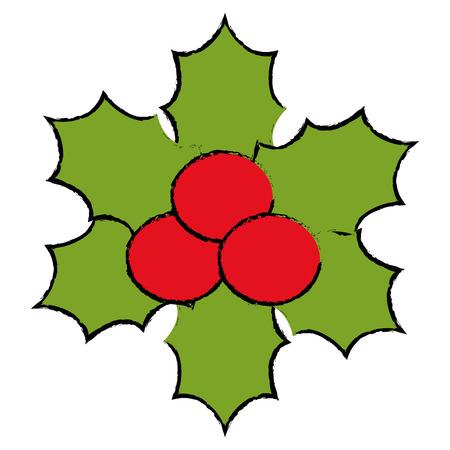 Christmas leafs decorative frame vector illustration design. Иллюстрация