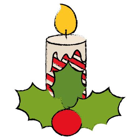 christmas candles decorative icon vector illustration design Foto de archivo - 92444484