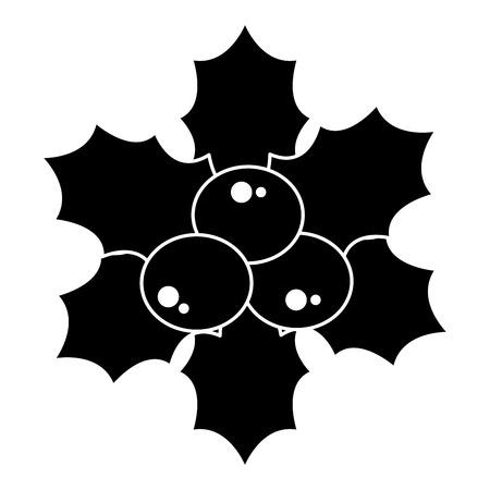 christmas leafs decorative frame vector illustration design Stock Vector - 92496976