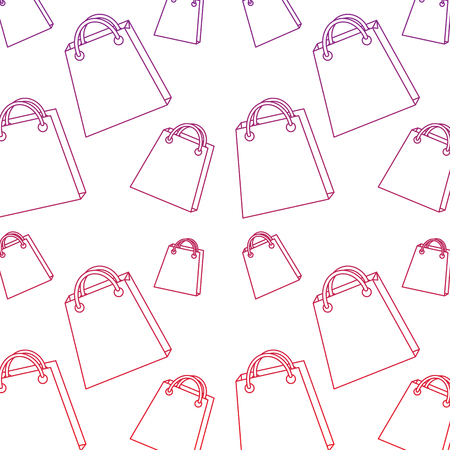 shopping bag pattern image vector illustration design  red to purple ombre line Illustration