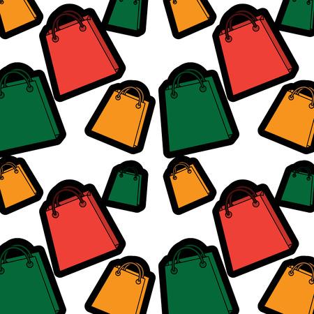Shopping bag pattern image vector illustration design