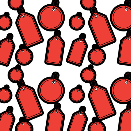 Price or gift tag pattern image vector illustration design Çizim
