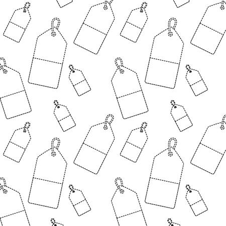 Prijs of geschenk tag patroon afbeelding vector illustratie ontwerp zwart doen