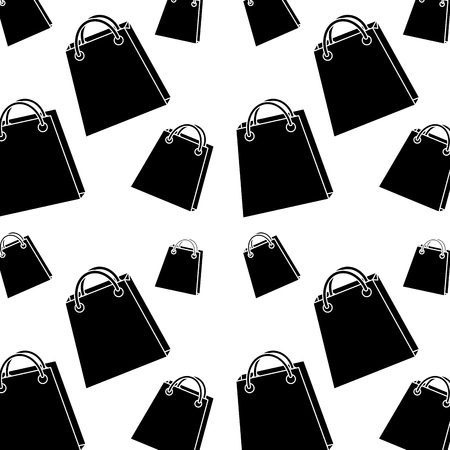 Shopping bag pattern image vector illustration design black and white Illustration