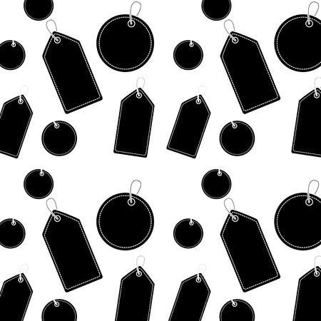 価格またはギフトタグパターン画像ベクトルイラストデザイン黒と白