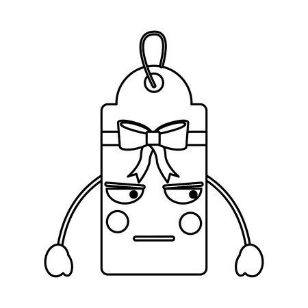 gift or price tag angry emoji icon image vector illustration