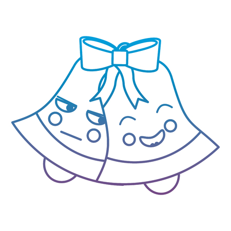 christmas bell emoji icon image vector illustration design  blue to purple ombre line Stock Vector - 92473171