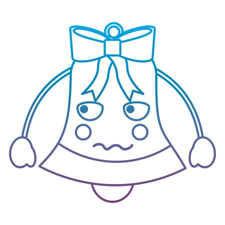 크리스마스 벨 이모티콘 아이콘 이미지 벡터 일러스트 레이 션 디자인 파란색 보라색 ombre 라인