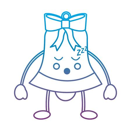 크리스마스 벨 이모티콘 이모티콘 아이콘 이미지 벡터 일러스트 디자인 파란색 보라색 ombre 라인 스톡 콘텐츠 - 92473172