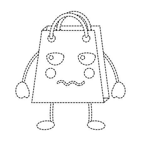 shopping bag angry emoji icon image vector illustration design