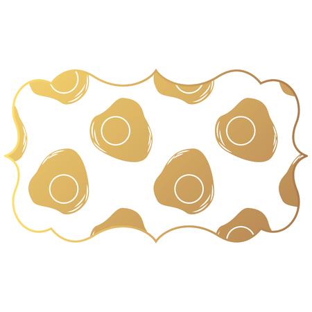 frame met van het achtergrond eierenpatroon vectorillustratieontwerp