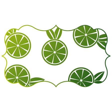 frame met sinaasappelen patroon achtergrond vector illustratie ontwerp