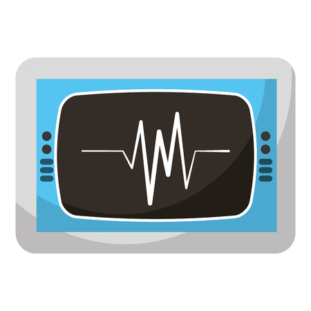 ekg monitor isolated icon vector illustration design
