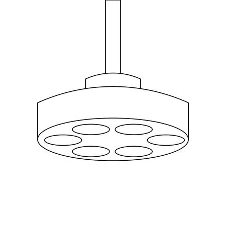Ontwerp van de het pictogram het vectorillustratie van de operatiekamerlamp. Stock Illustratie