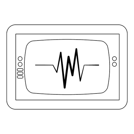 Ekg monitor isolated icon vector illustration design.