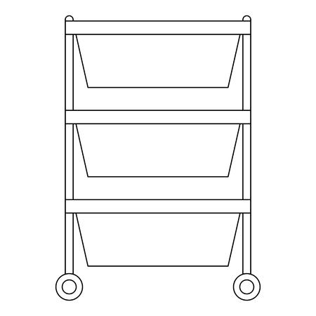 Hospital operating drawer isolated icon illustration design.