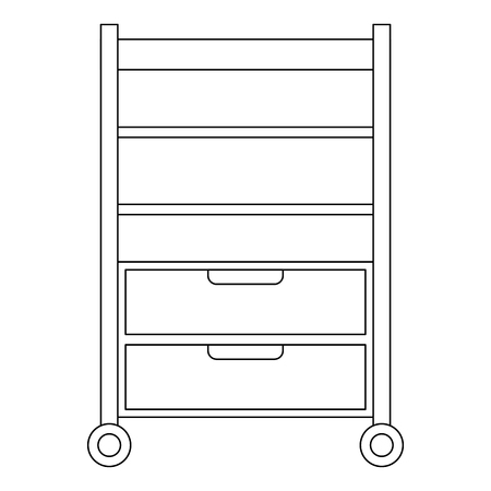 Hospital operating drawer isolated icon vector illustration design.