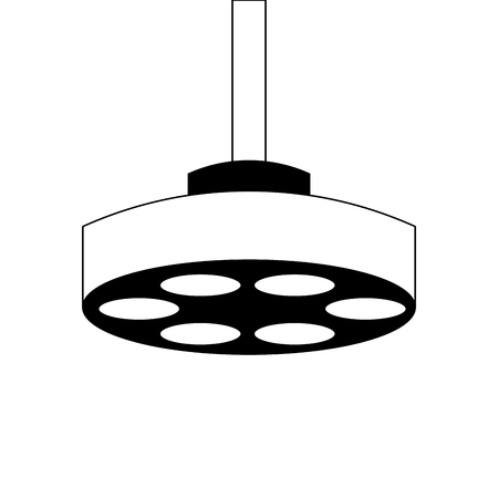 Operating theater lamp icon vector illustration design. Illustration