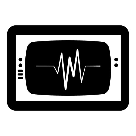 Ekg monitor isolated icon vector illustration design.