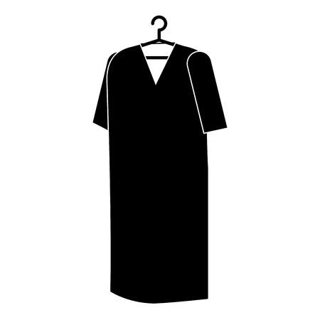 Patients coat hanging icon vector illustration design. Иллюстрация